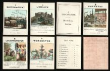 Counties of England by Jaques Collectible cards game